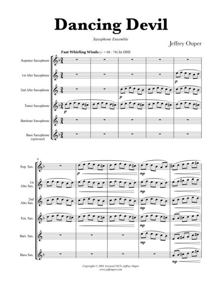 Dancing Devil (Saxophone Quintet)