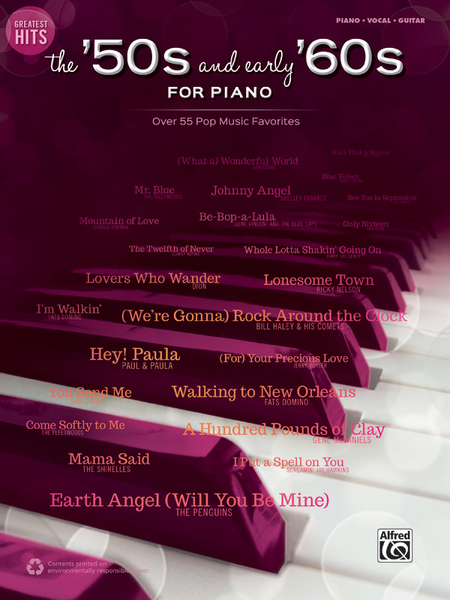 Greatest Hits -- The '50s and Early '60s for Piano