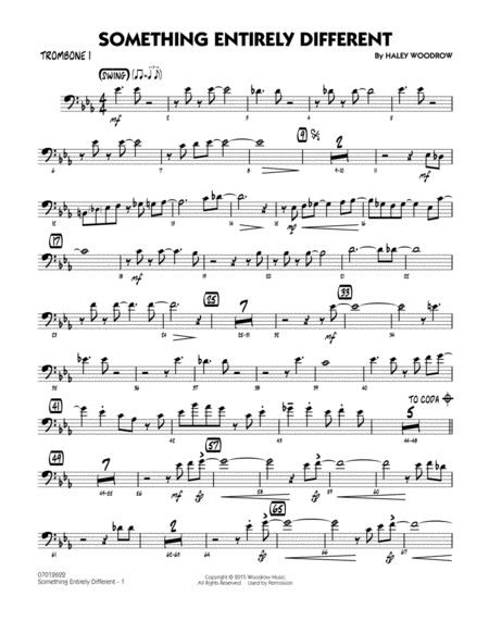 Something Entirely Different - Trombone 1