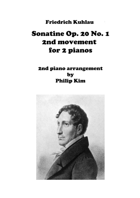 F. Kuhlau Sonatine Op. 20 No. 1 Second Movement for 2 Pianos