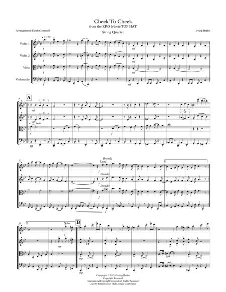 Cheek To Cheek: String Quartet