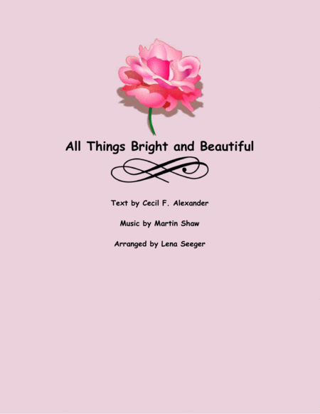 All Things Bright and Beautiful (string trio)