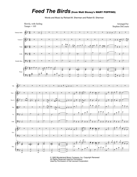 Feed The Birds (for String Orchestra)