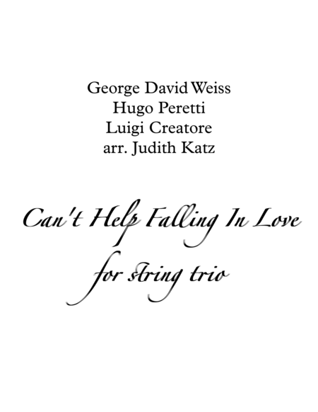 People Will Say We're In Love - for string trio