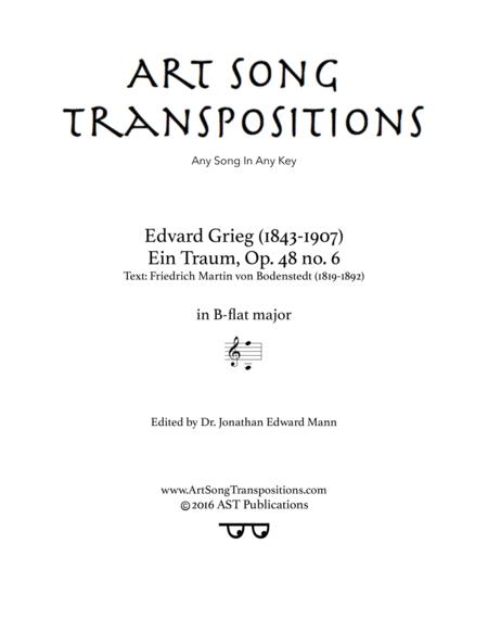 Ein Traum, Op. 48 no. 6 (B-flat major)
