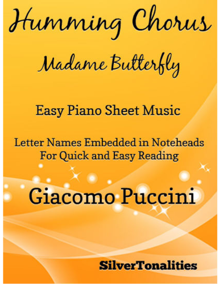Humming Chorus Easy Piano Sheet Music