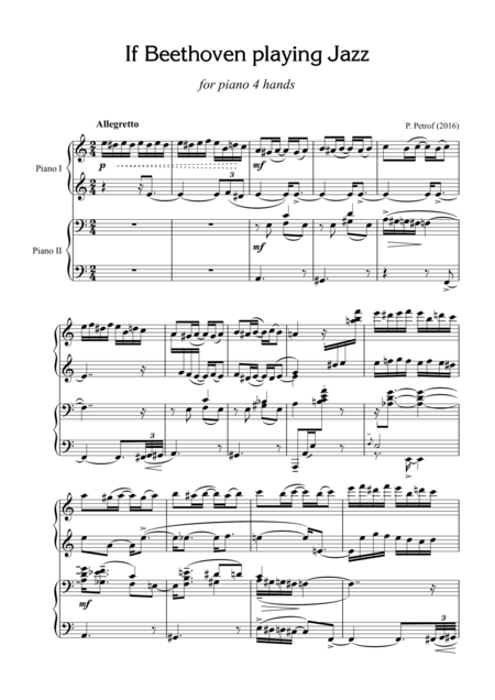 If Beethoven playing Jazz - for piano 4 hands