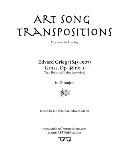 Gruss, Op. 48 no. 1 (D major)