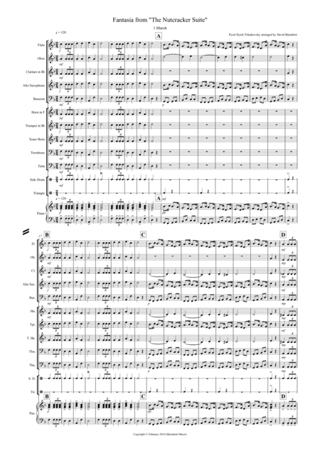 March (Fantasia from the Nutcracker) for School Concert Band
