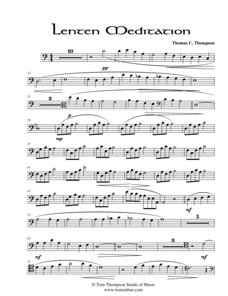 Lenten Meditation (cello score)