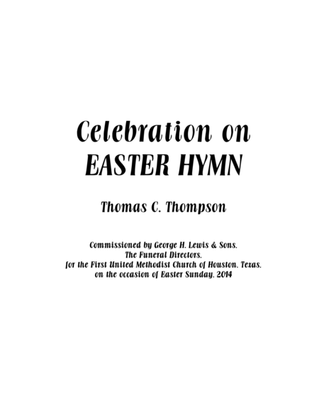 Celebration on EASTER HYMN (chorus score)