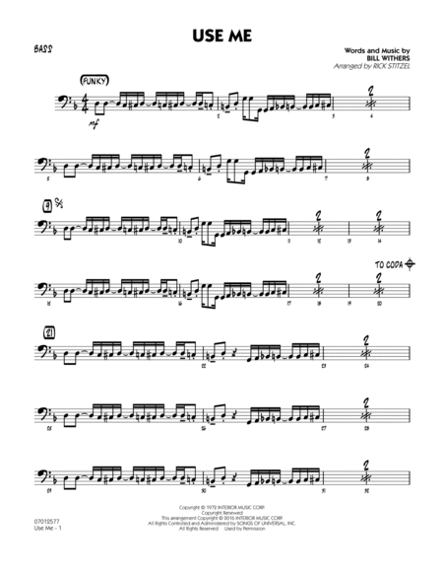 Use Me - Bass