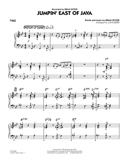 Jumpin' East of Java - Piano