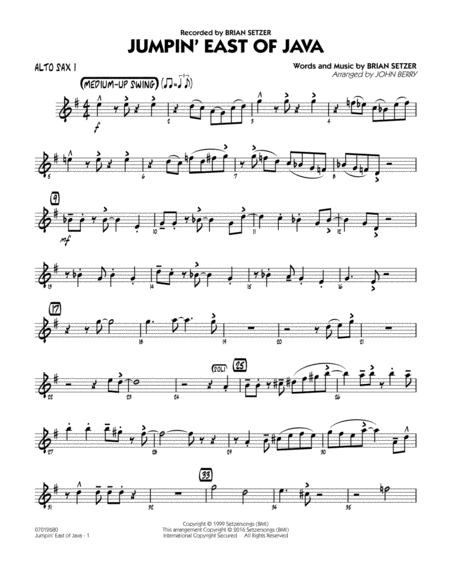 Jumpin' East of Java - Alto Sax 1