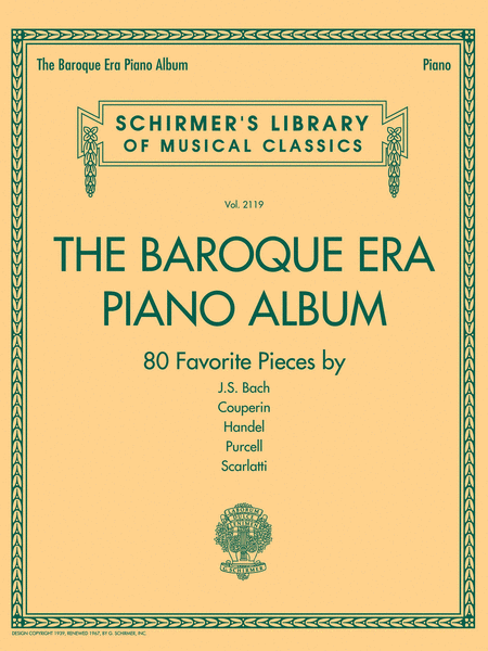 The Baroque Era Piano Album
