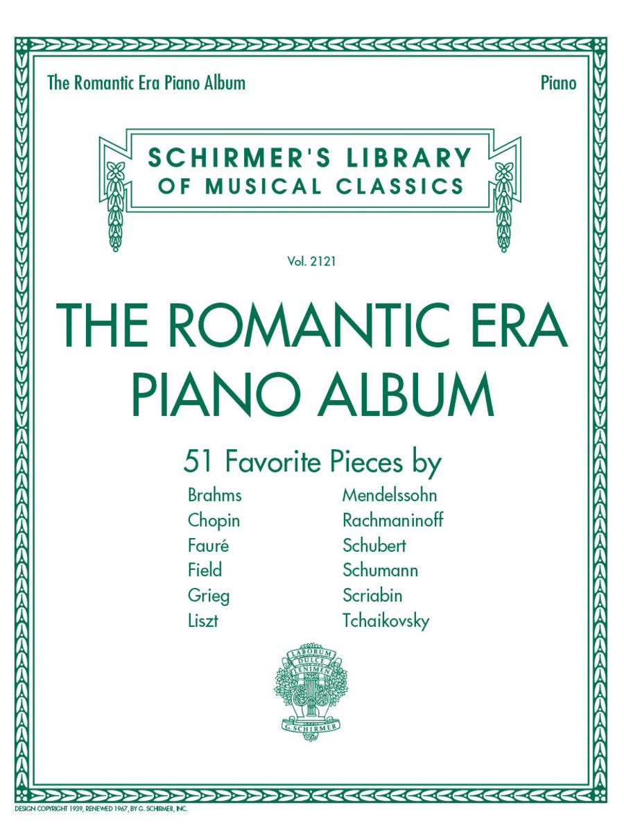The Romantic Era Piano Album