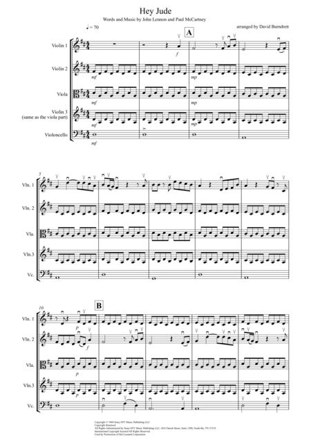 Hey Jude for String Quartet
