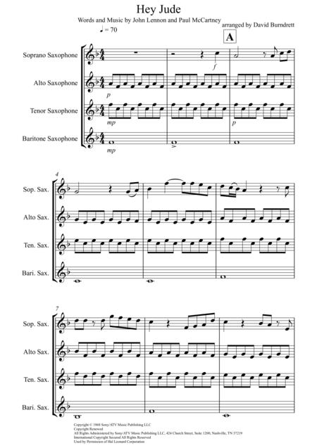 hey jude music sheet pdf