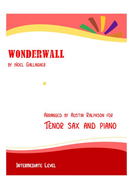 Wonderwall - tenor sax and piano