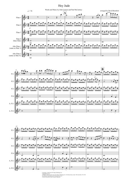Hey Jude for Flute Quartet