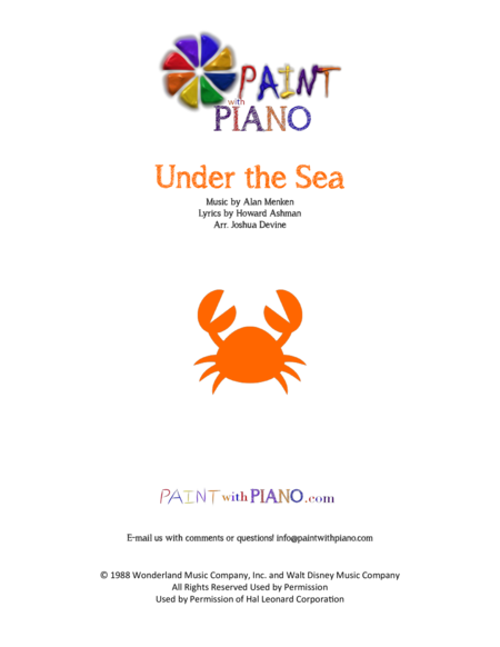 Under the Sea (Easy Piano)