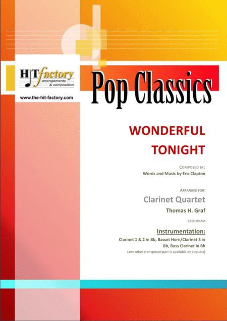 Wonderful Tonight - Eric Clapton - Clarinet Quartet