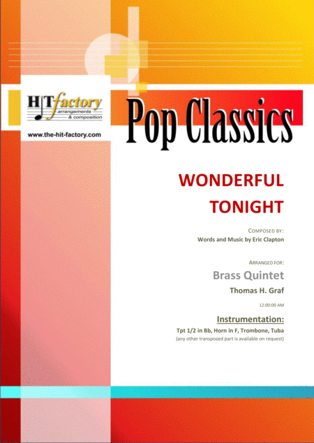 Wonderful Tonight - Eric Clapton - Brass Quintet