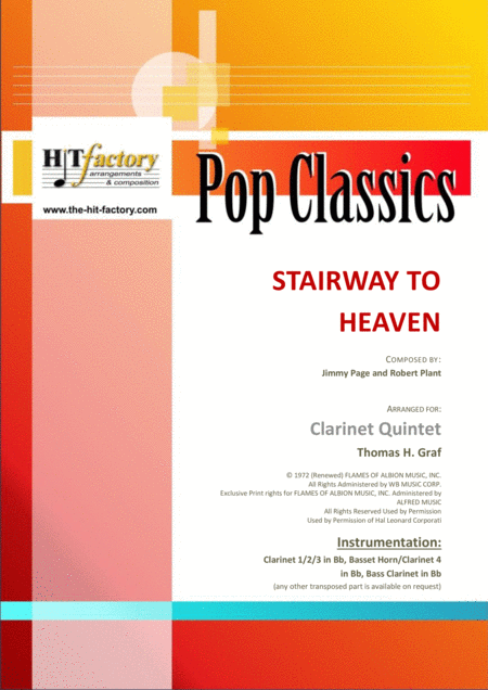 Stairway to heaven - Rock-Classic by Led Zeppelin - Clarinet Quintet