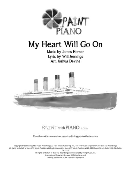 My Heart will Go On (Love Theme from Titanic) Easy Piano