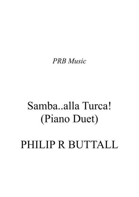 Samba..alla..Turca (Piano Duet - Four Hands)