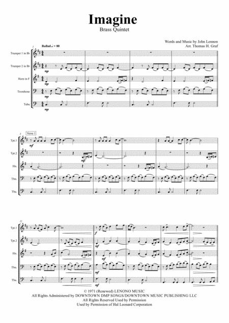 Imagine - John Lennon's Classic  - Brass Quintet