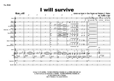 I will survive - Gloria Gaynor - Cover Band - female Vocals/4 Rhythm (b/g/p/dr)/4 Brass - A - minor
