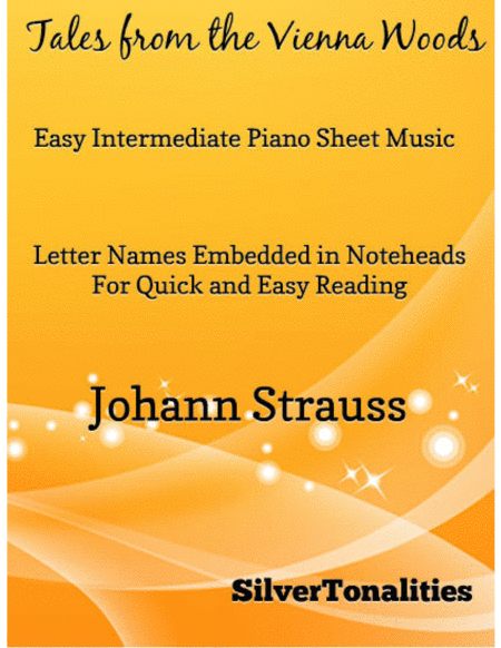 Tales from the Vienna Woods Easy Intermediate Piano Sheet Music