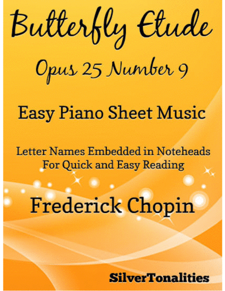 Butterfly Etude Easy Piano Sheet Music