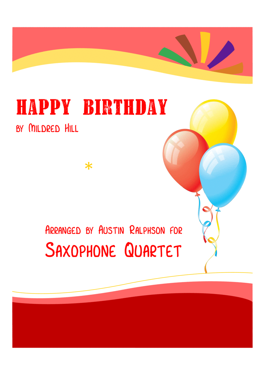 Happy Birthday - sax quartet