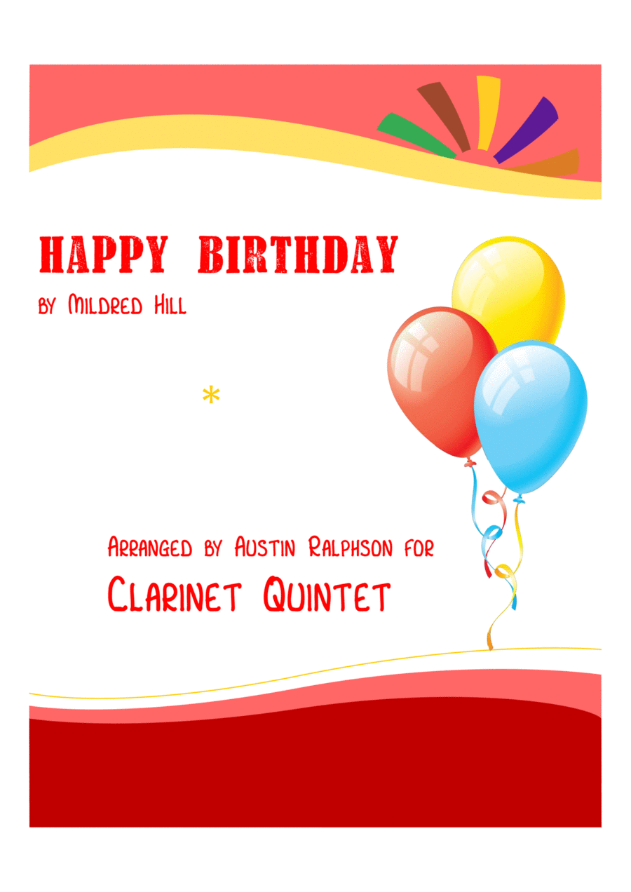 Happy Birthday - clarinet quintet
