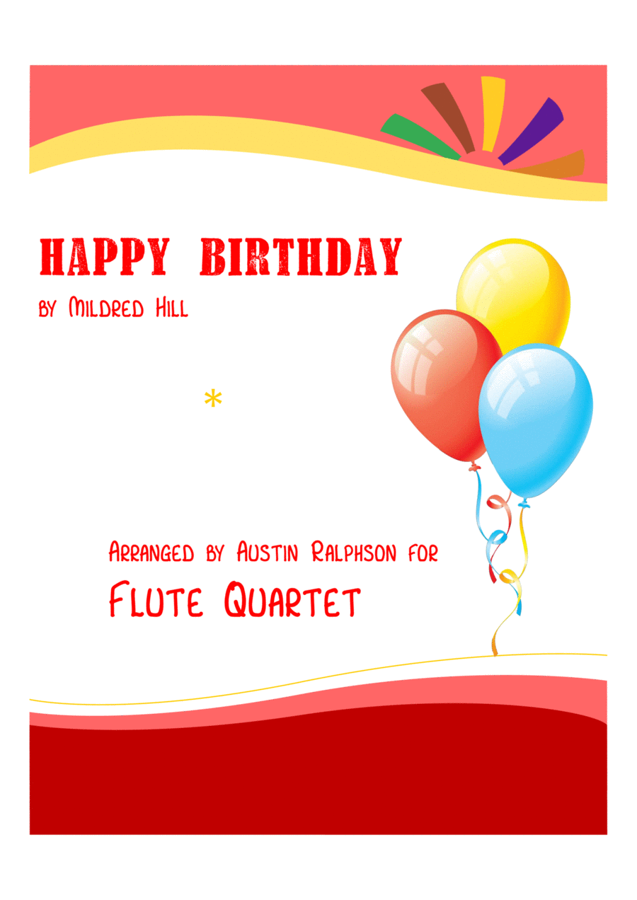Happy Birthday - flute quartet