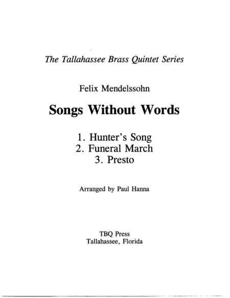 Three Songs Without Words