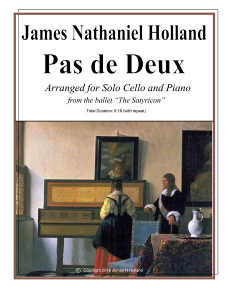 Pas de Deux from The Satyricon Ballet Arranged for Cello and Piano