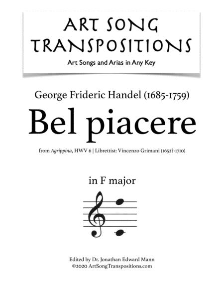 Bel piacere (F major)