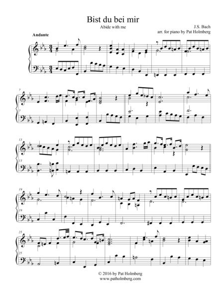 Bist du Bei Mir - for piano