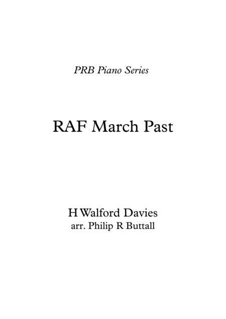 Royal Air Force March Past (Walford Davies) (Piano Solo)