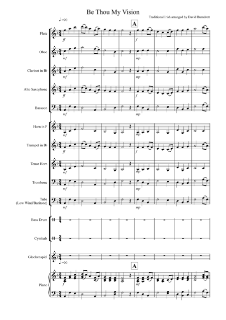 Be Thou My Vision for School Concert Band