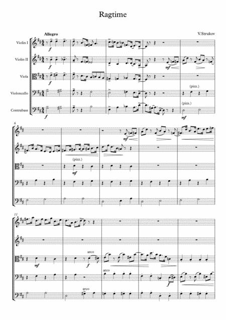 Ragtime for String Quintet
