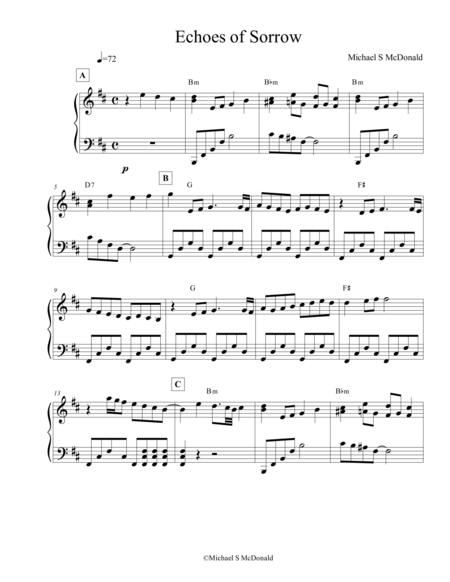 Echoes of Sorrow (Piano Score)