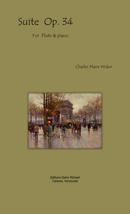 Widor, Suite Op 34 for Flute & piano