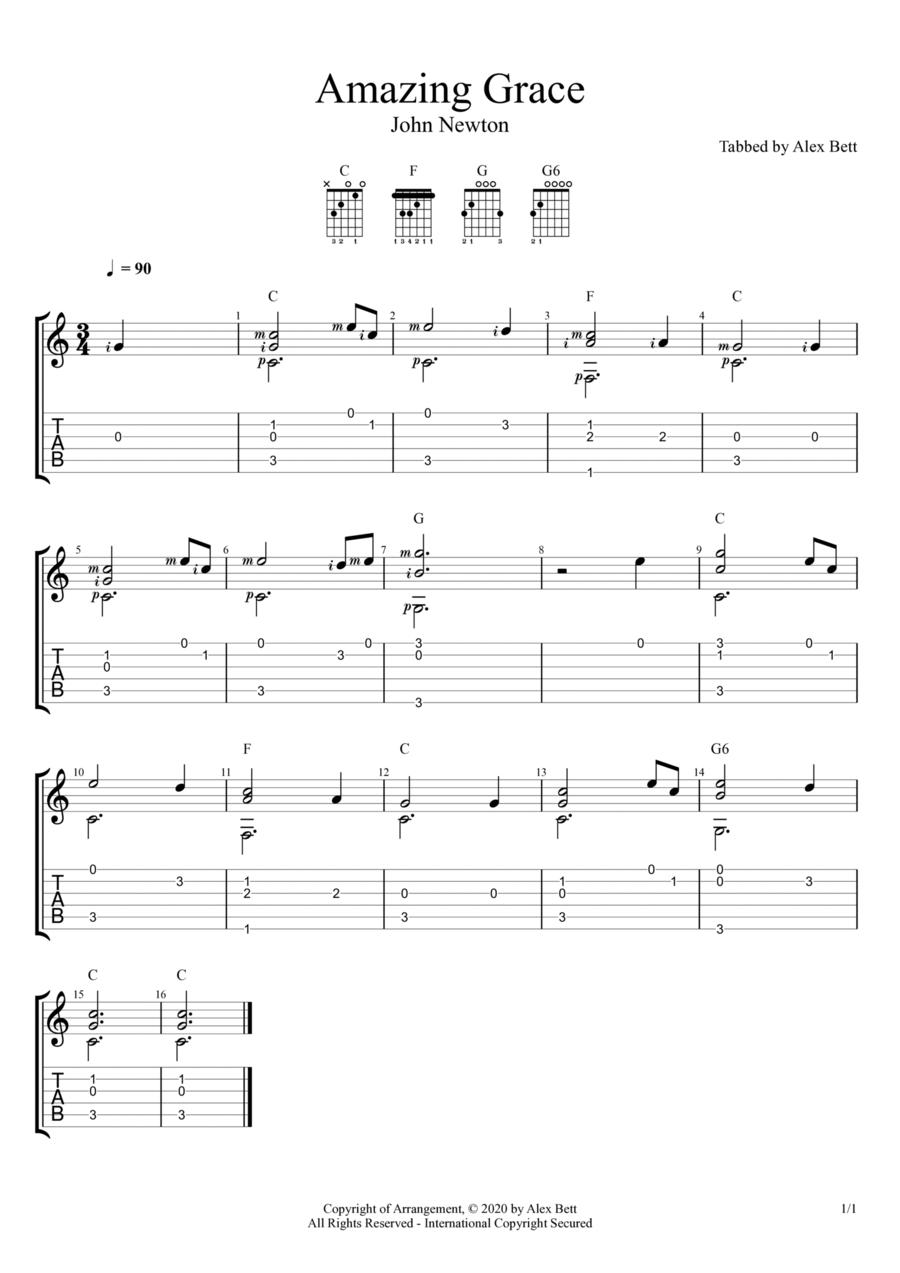 Amazing Grace (Fingerstyle Guitar)