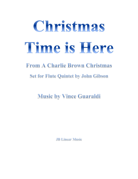 Christmas Time is Here from A Charlie Brown Christmas for 5 Flutes