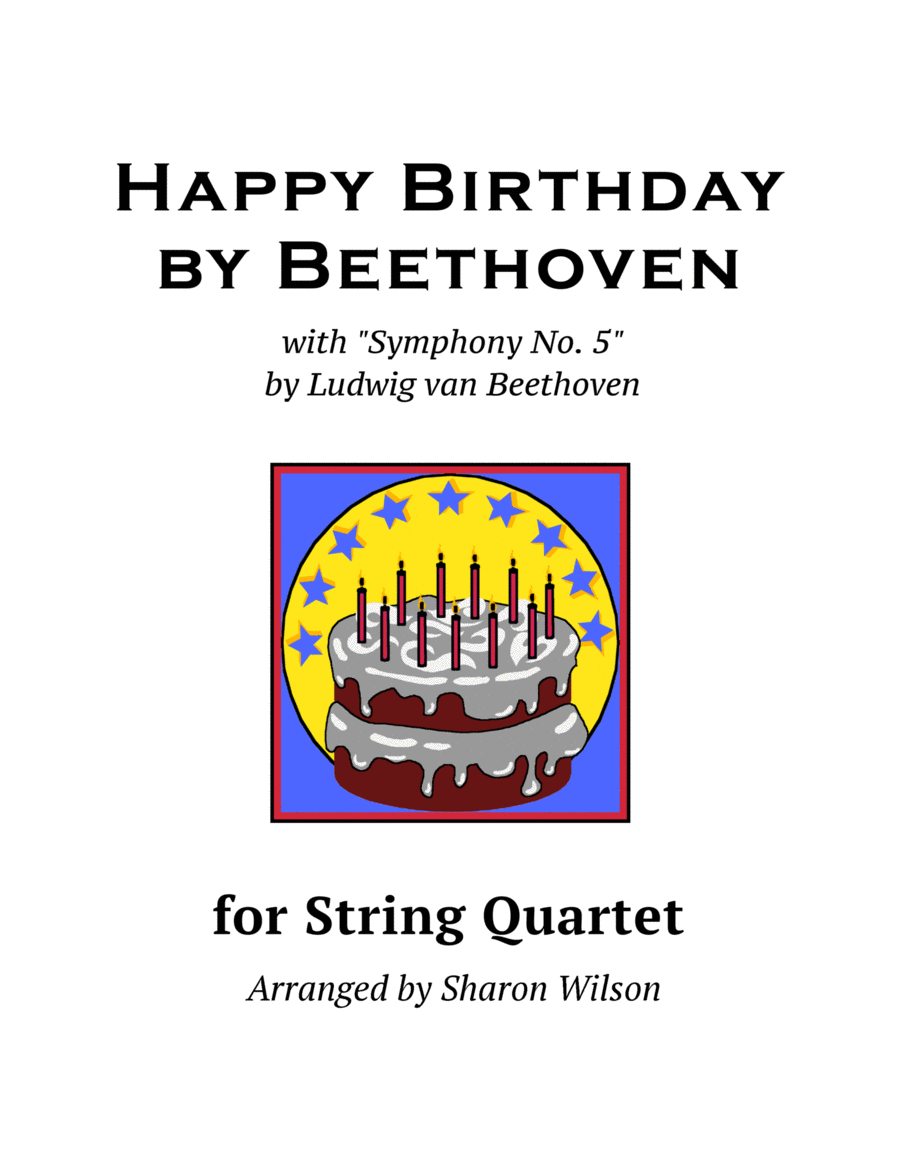 Happy Birthday by Beethoven (for String Quartet)