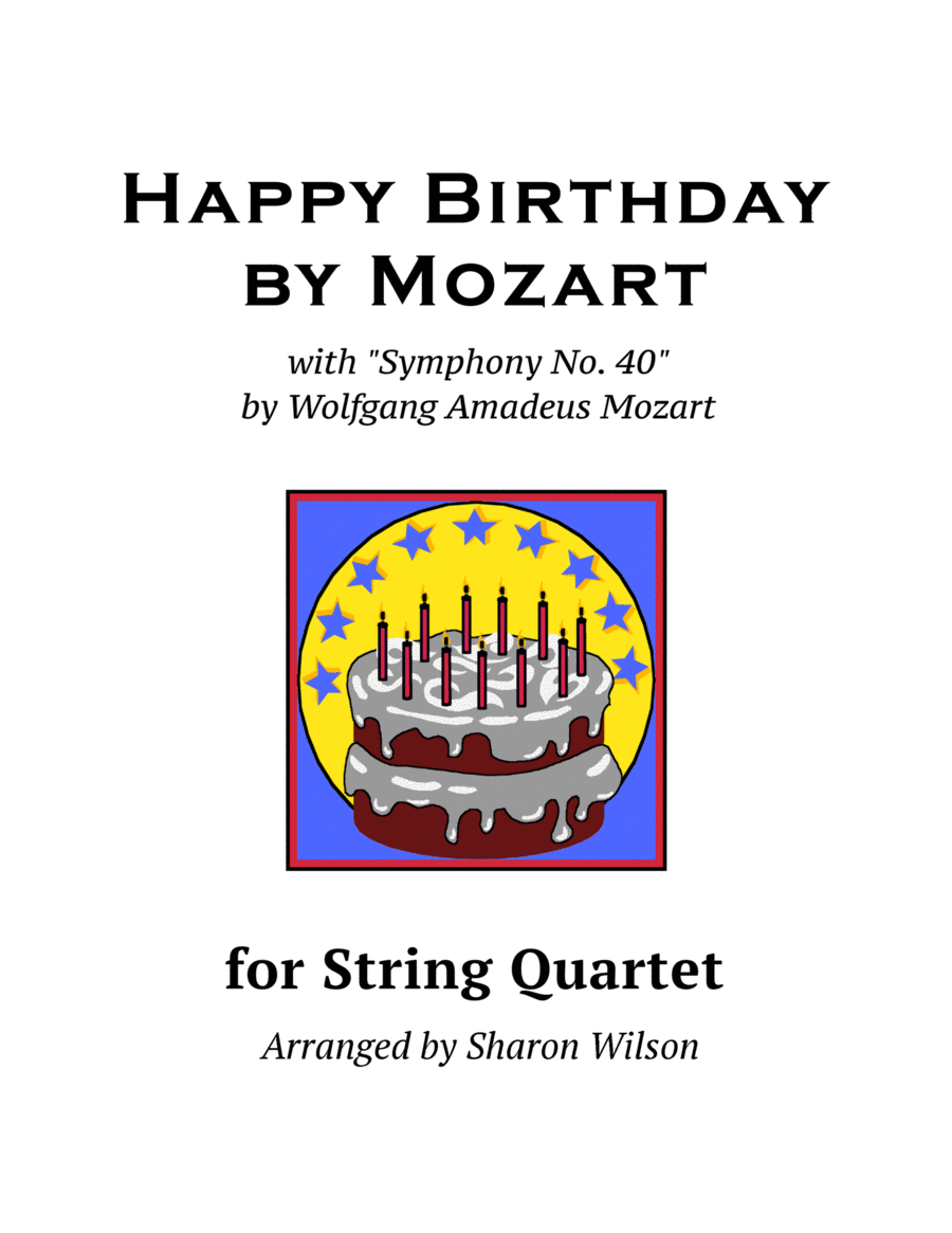 Happy Birthday by Mozart (for String Quartet)